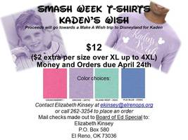 Smash Week Shirt info