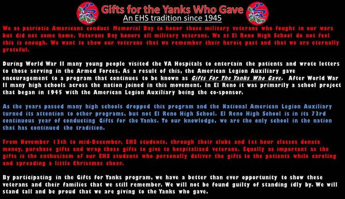 gifts to the yanks history